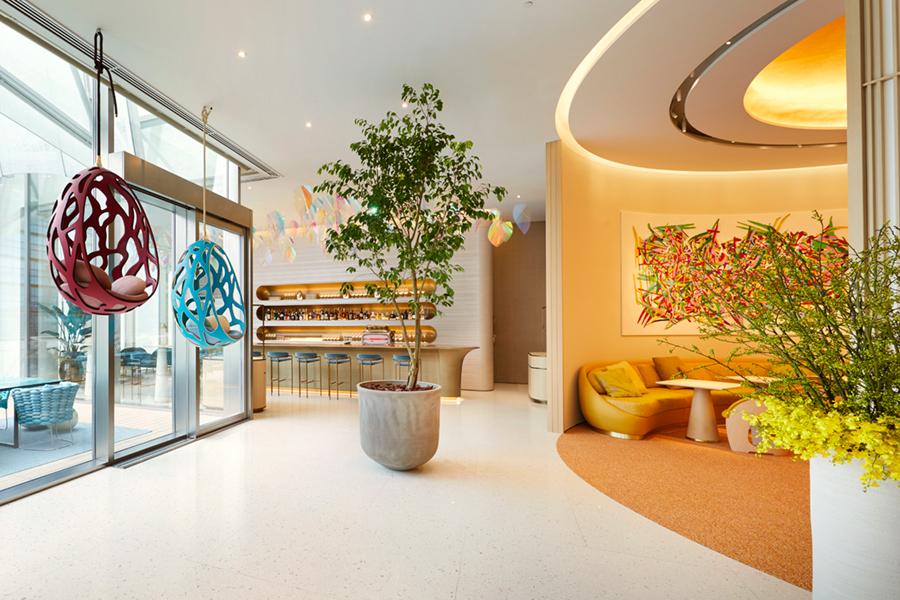 Louis Vuitton restaurant lobby