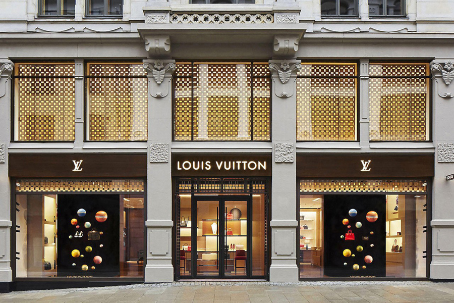 Louis Vuitton entrance of the restaurant