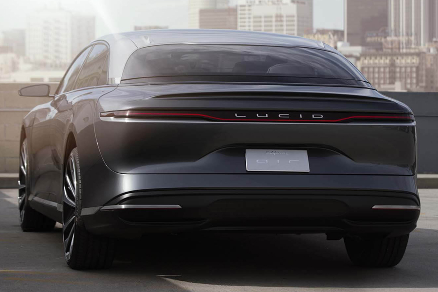 Lucid Air electric car back view
