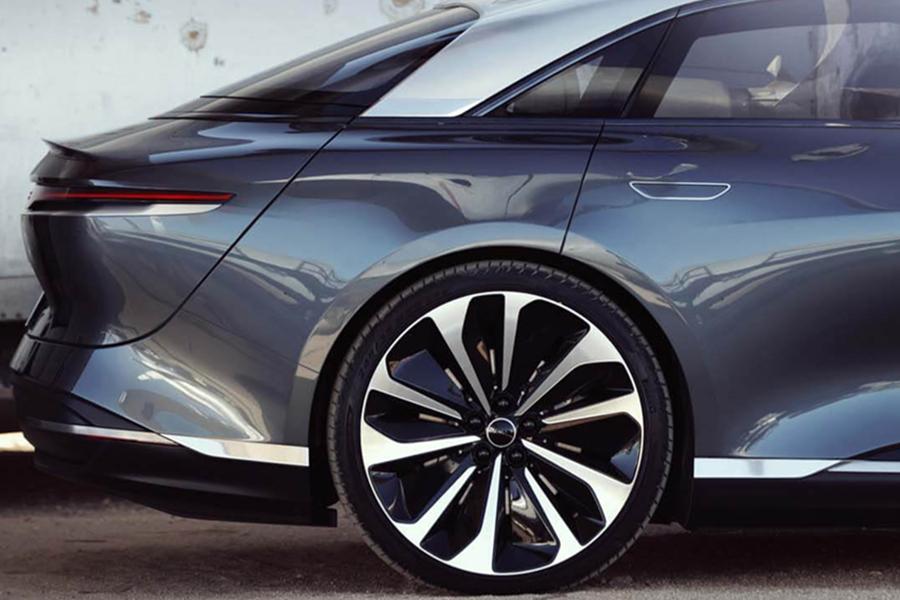 Lucid Air electric car wheel