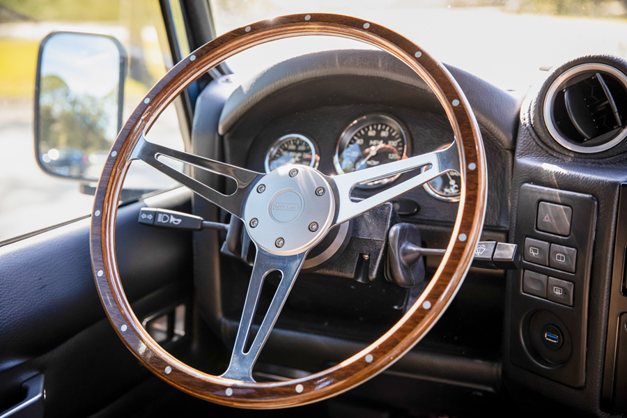 project galena custom defender steering wheel