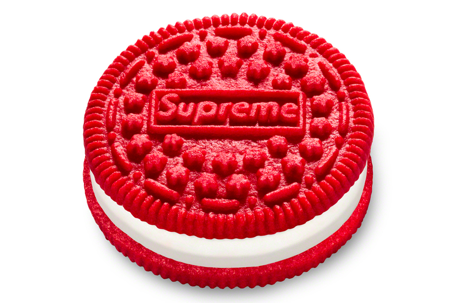 A Supreme Oreo cookie