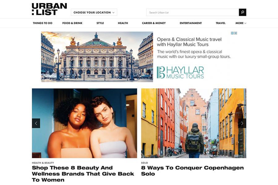 lifestyle blog The Urban List
