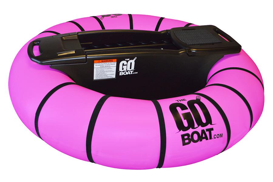 pink goboat motorized bumper boat