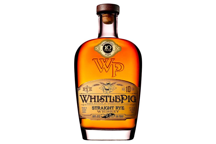 Bottle of Whsitlepig Straight Rye Whiskey