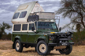 1984 Land Rover 110 Dormobile Overlanding Vehicle side view