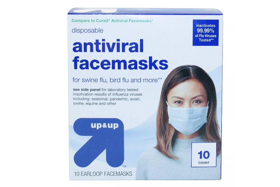 surgical face masks antiviral
