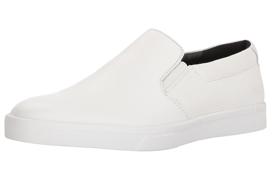 Calvin Klein Mens ivo Loafer White