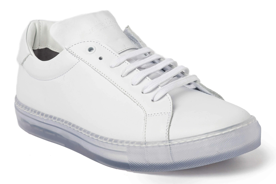 Jared Lang White Clear Sole Sneaker
