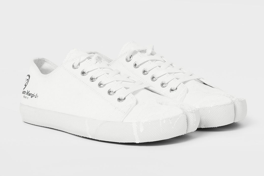 Maison Margiela Tabi Paint Drop White Sneakers
