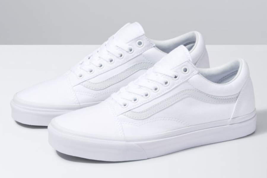 Vans Canvas Old Skool White Sneakers