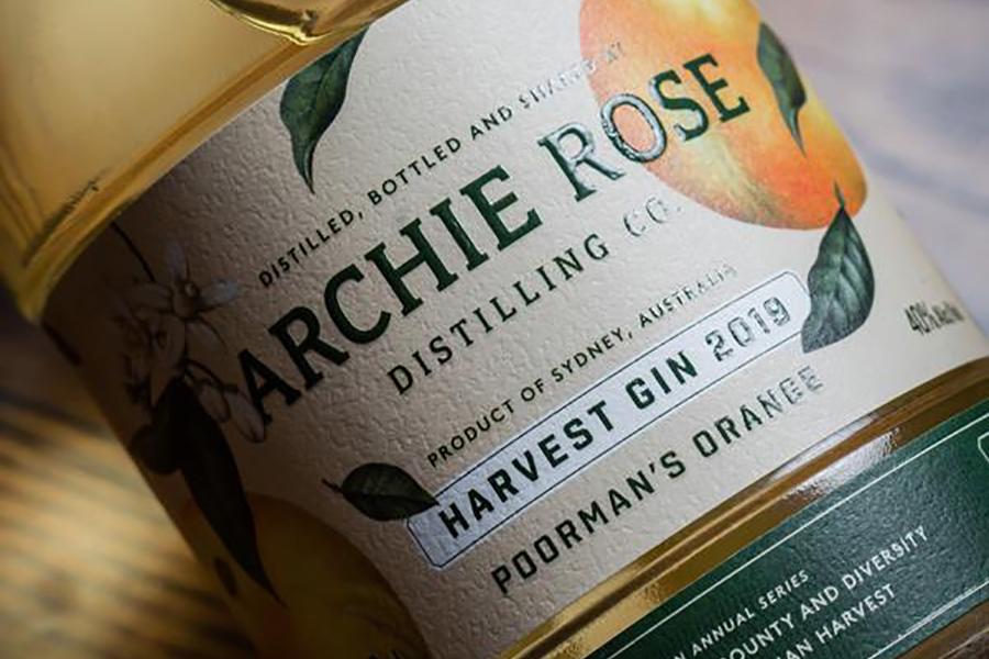 Archie Rose poorman's orange gin label
