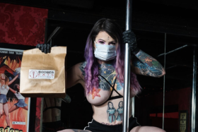 Boober Eats topless meal delivery service