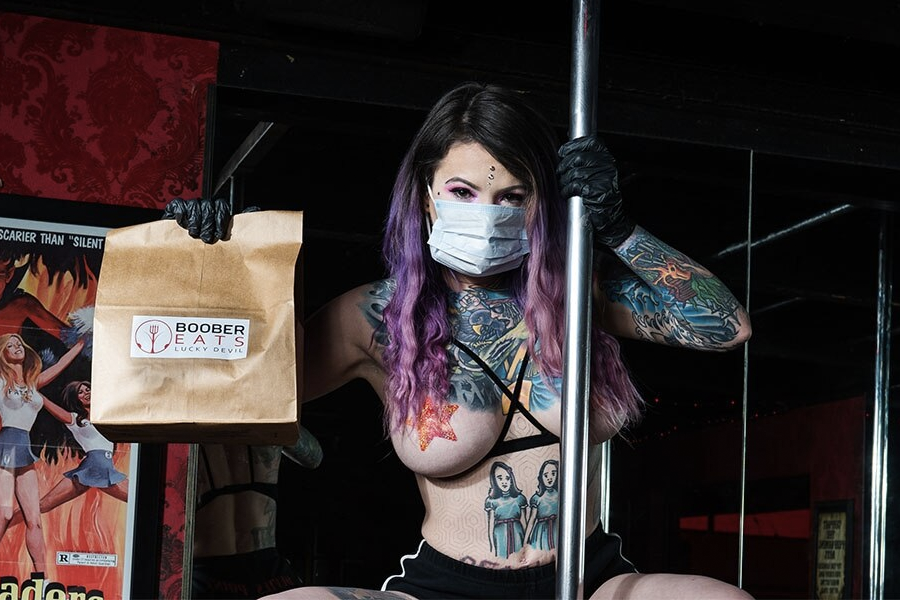 Out of Work Strippers Launch Boober Eats, the Topless Meal ...