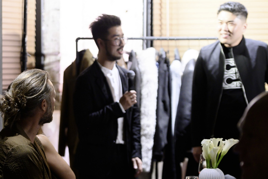 menswear launch party interview