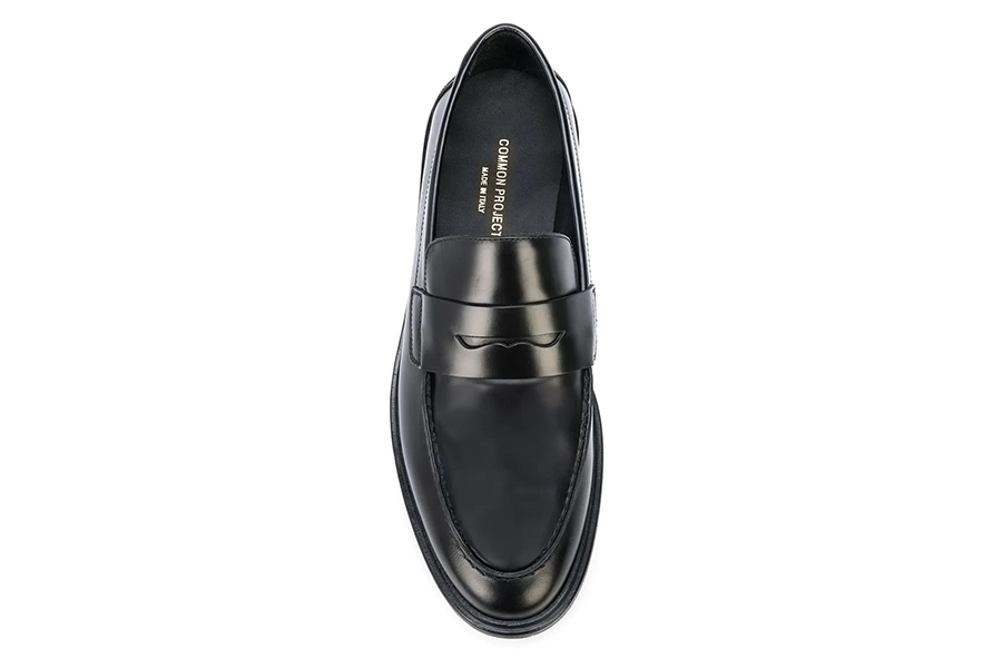 Common Projects Penny Loafers top view