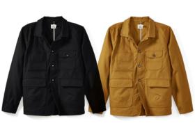 Black and khaki Flint & Tinder Washable Waxed Drifter Jackets