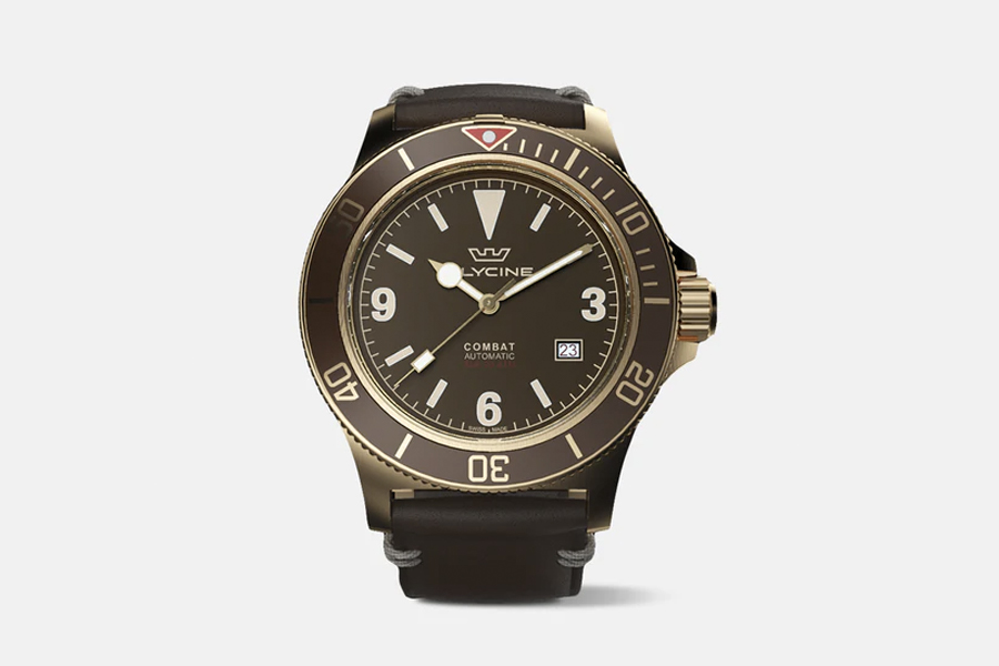 GLYCINE COMBAT SUB BRONZE WATCH 2