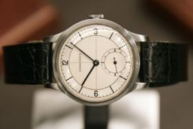 Original Longines Heritage Classic watch on its side