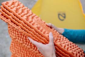 how to fold nemo ultralight sleeping pad
