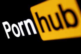 Pornhub logo from an angle