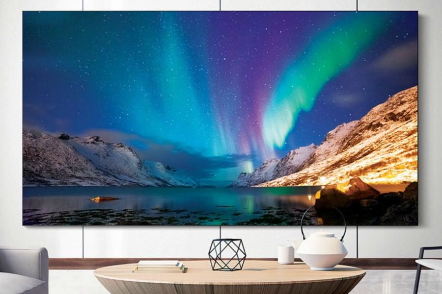 samsung the wall huge tv display