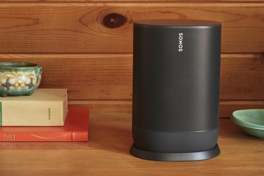 Sonos speaker on a table