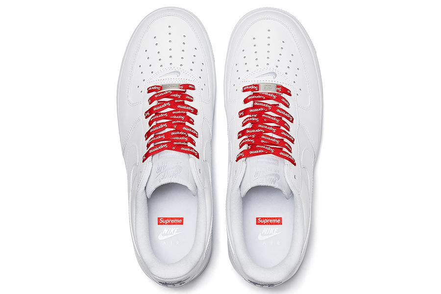 Supreme x AF1 Nike Low top view