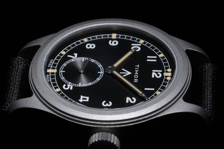 Timor military watch top view