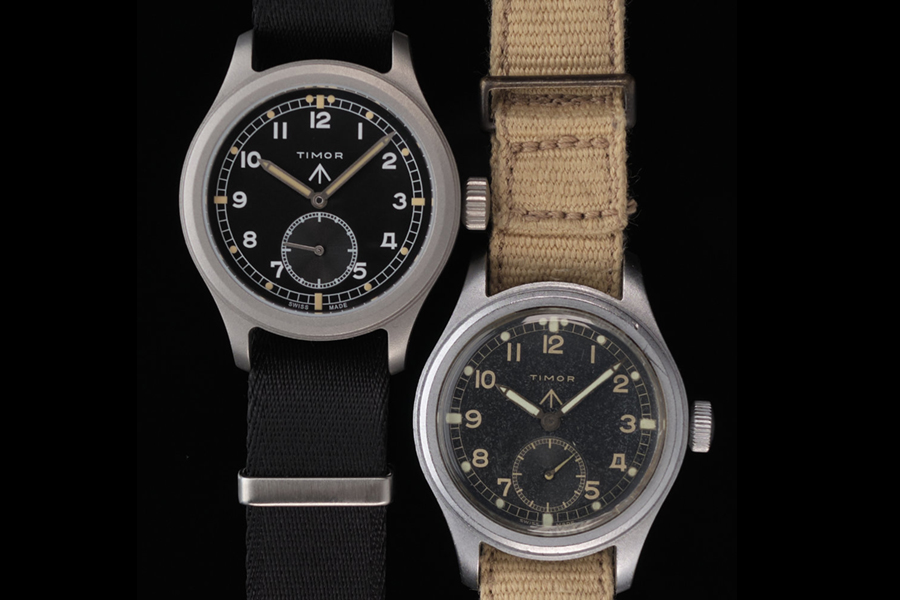 Timor military watch varies in strap color