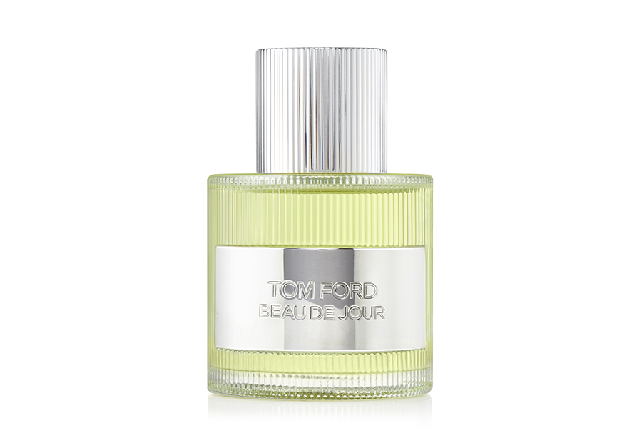 A bottle of Tom Ford Beau de Jour perfume