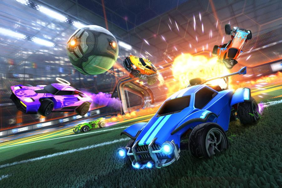 rocket league video game art