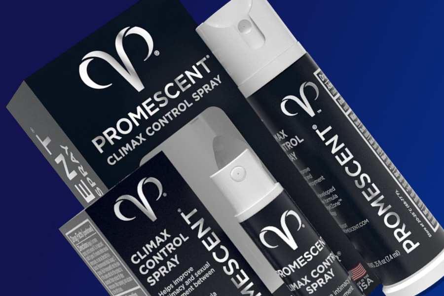 Promescent Climax Control Spray can and its box