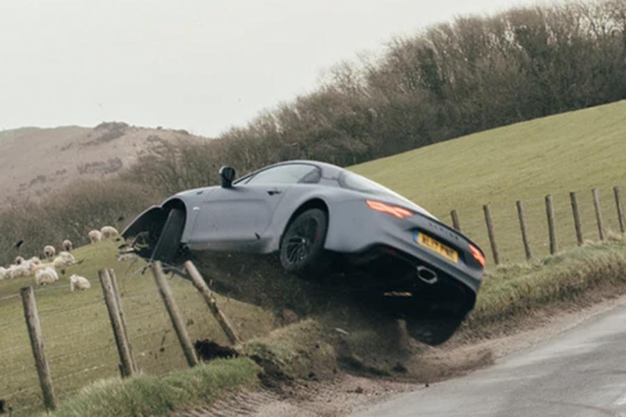 Car journalist crashes Porsche Alpine A110 S (images via DriveTribe)