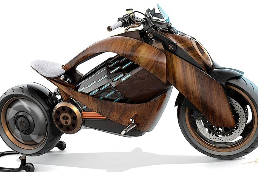 12 Newron EV-1 electric motorcycle side view