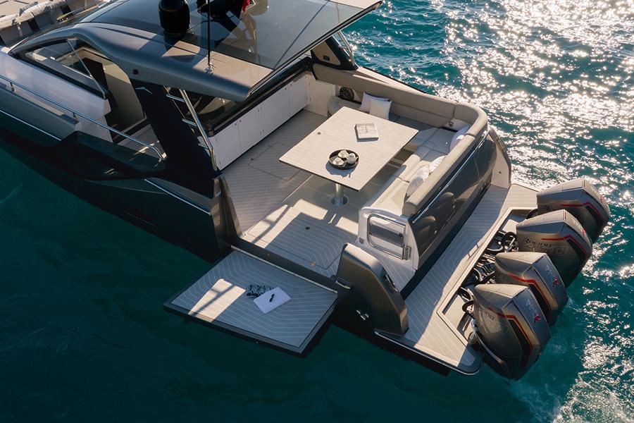 Azimut Verve 47 Yacht view deck aerial scene
