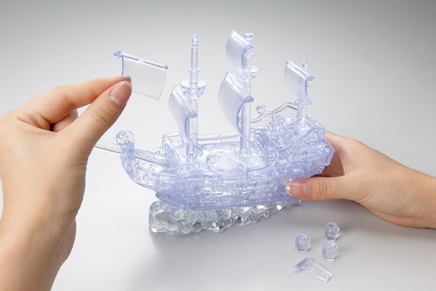 Best Puzzles for Adults - 3D Crystal Pirate Ship