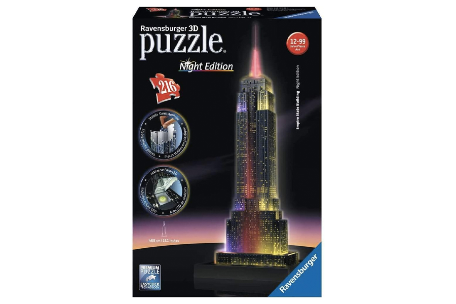 Best Puzzles for Adults - 3D Empire State Building (Night Edition)