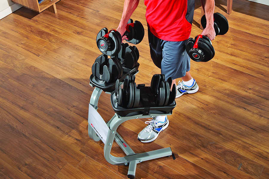 Bowflex Adjustable Weights use in the gym