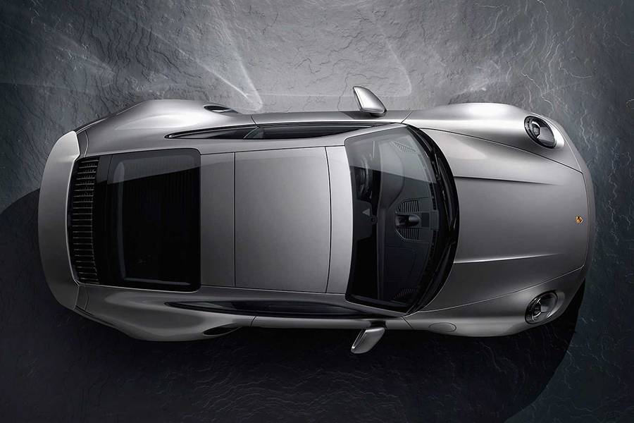 Brand-New Porsche 911 Turbo S top view