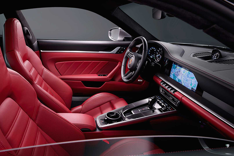 Brand-New Porsche 911 Turbo S car seat upholstery