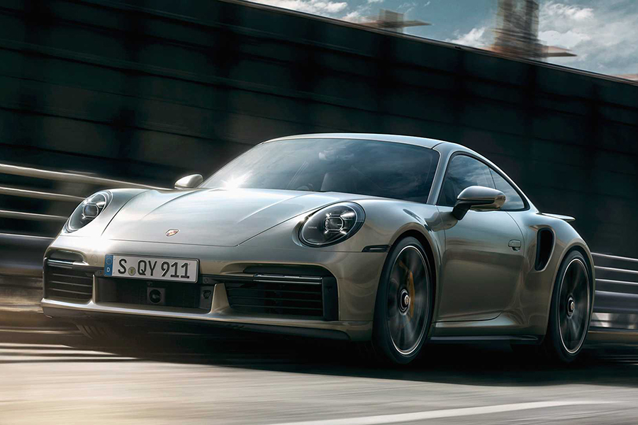 Brand-New Porsche 911 Turbo S side view