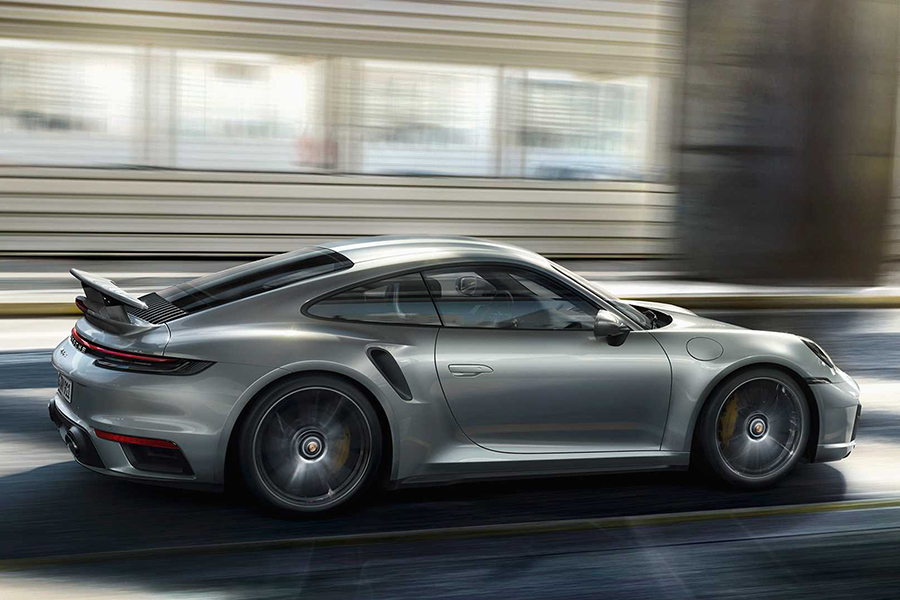 Brand-New Porsche 911 Turbo S on the road
