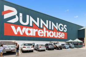 Cars parked outsideBunnings warehouse