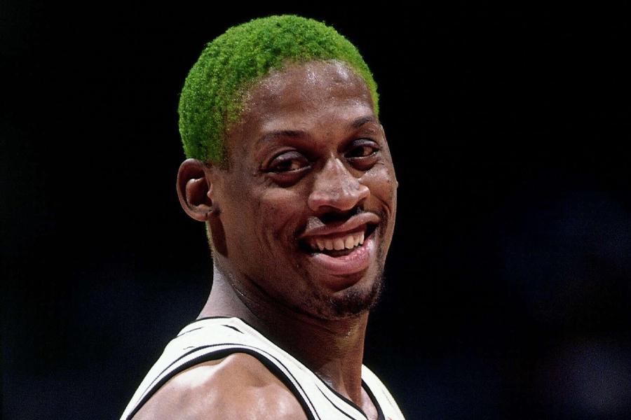 Dennis Rodman Hair - Green Machine