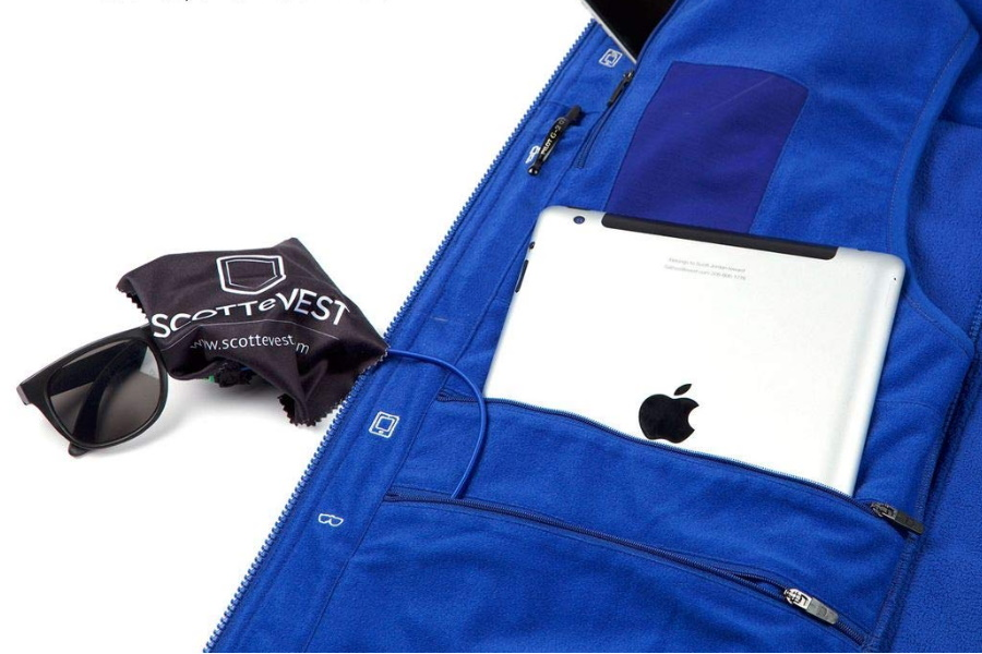 Ipad in the pocket of an eVest