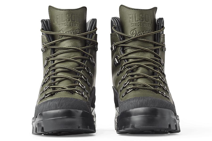 Filson x Danner Combat Hiker front view boots