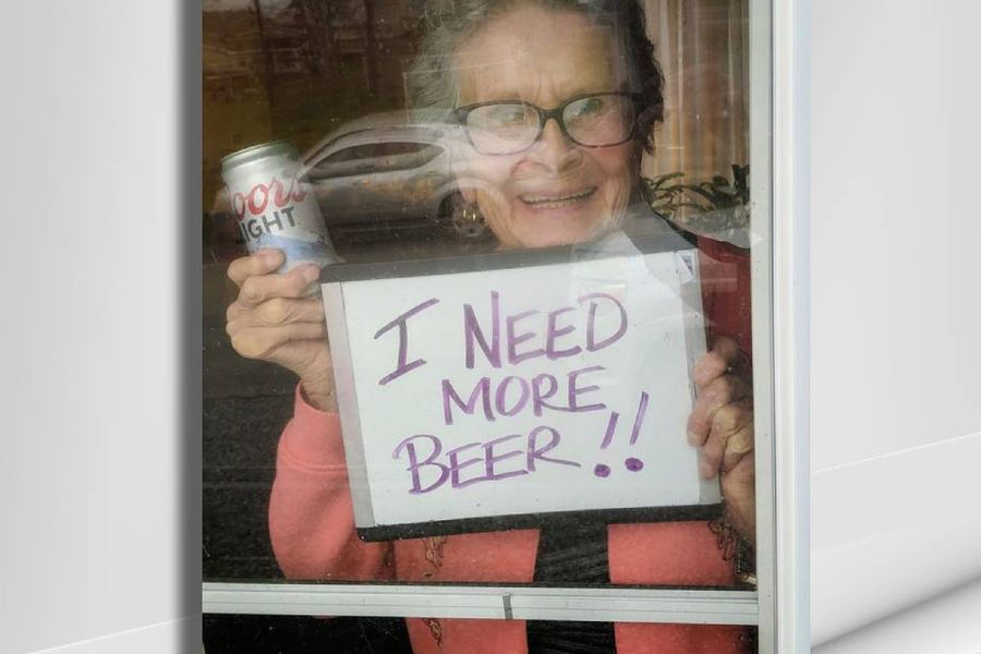 Feel-Good Friday April 17 - Coors Delivers 150 Beers to 93-Year-Old Woman in Isolation 1