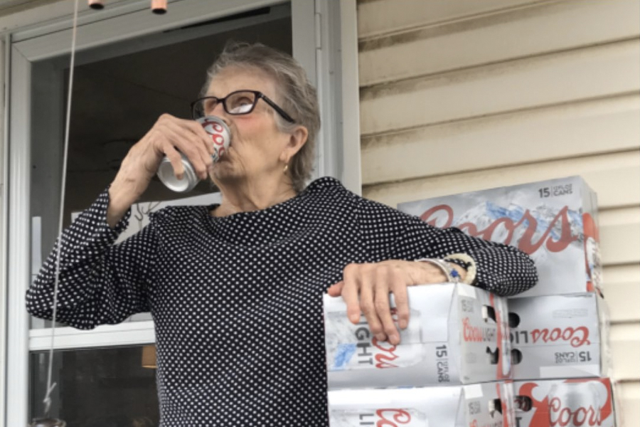 Feel-Good Friday April 17 - Coors Delivers 150 Beers to 93-Year-Old Woman in Isolation