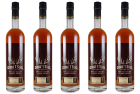 Bottles of George T. Stagg Whiskey